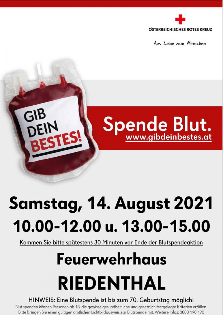 Veranstaltungsinfo Blutspenden